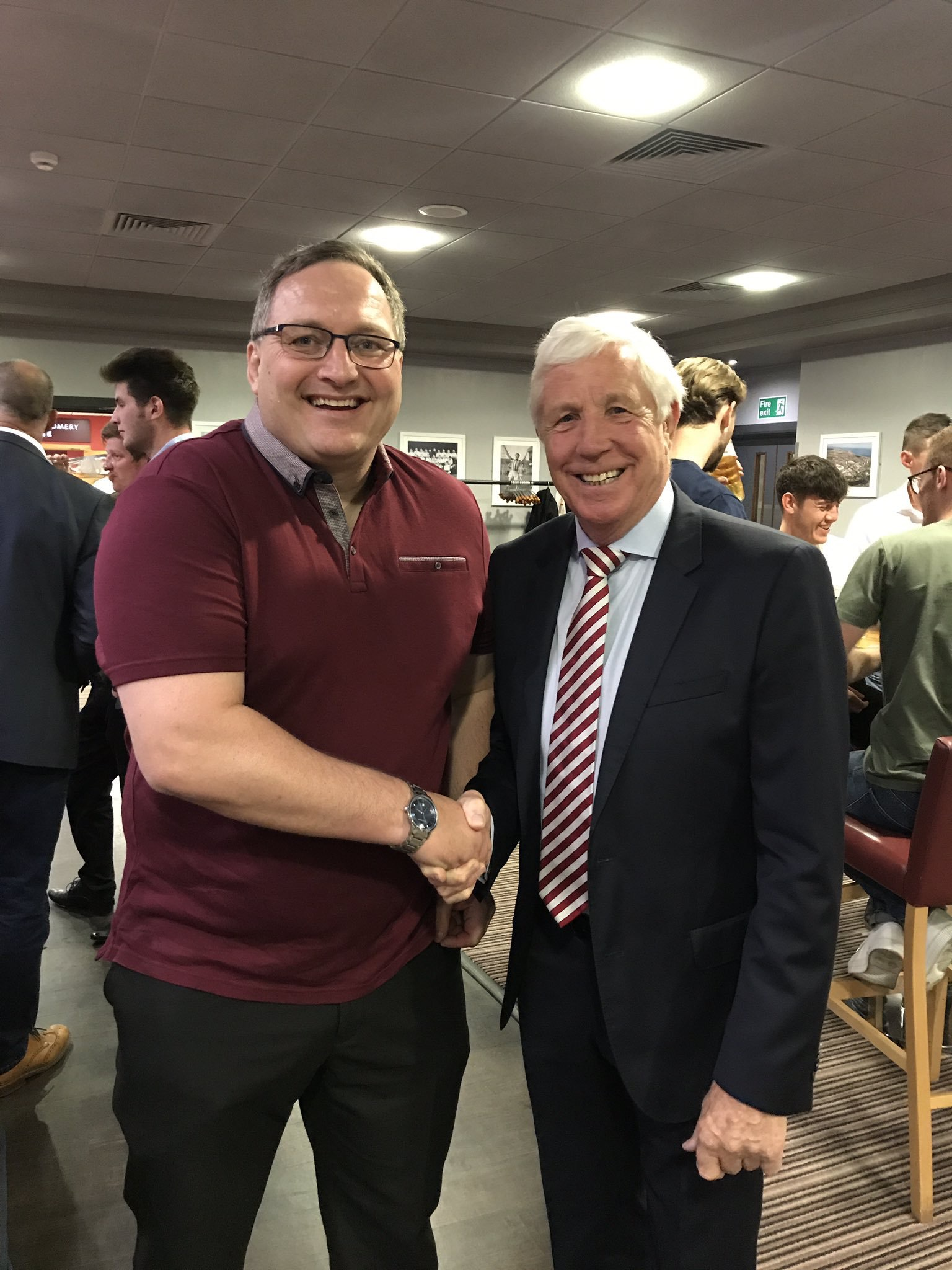 Paul Pybus client meeting our SAFC legend Jimmy Montgomery